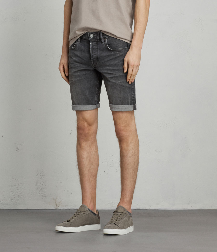 Herren Genesee Switch Jeans-Shorts (grey) - Image 3