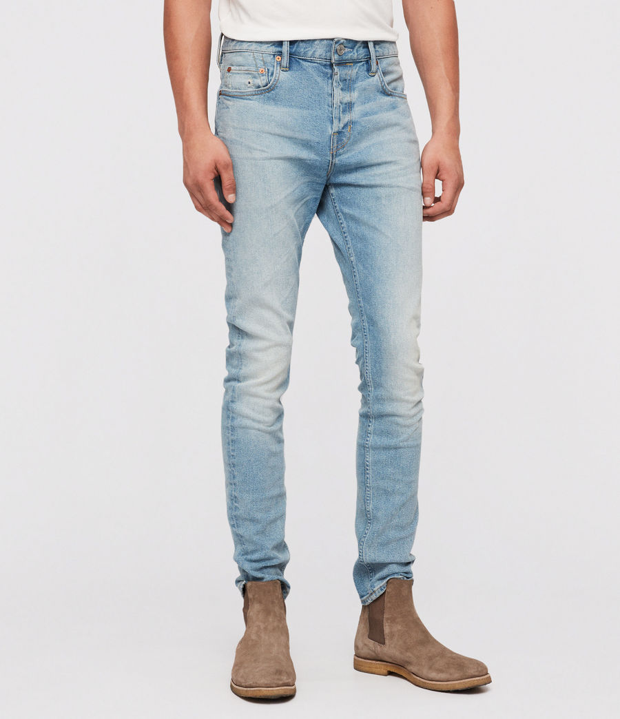 Mens Cigarette Skinny Jeans (light_indigo) - Image 1