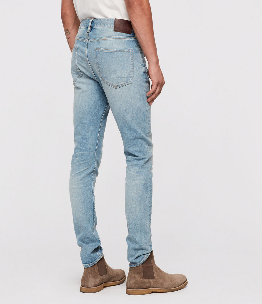 Mens Cigarette Skinny Jeans (light_indigo) - Image 5