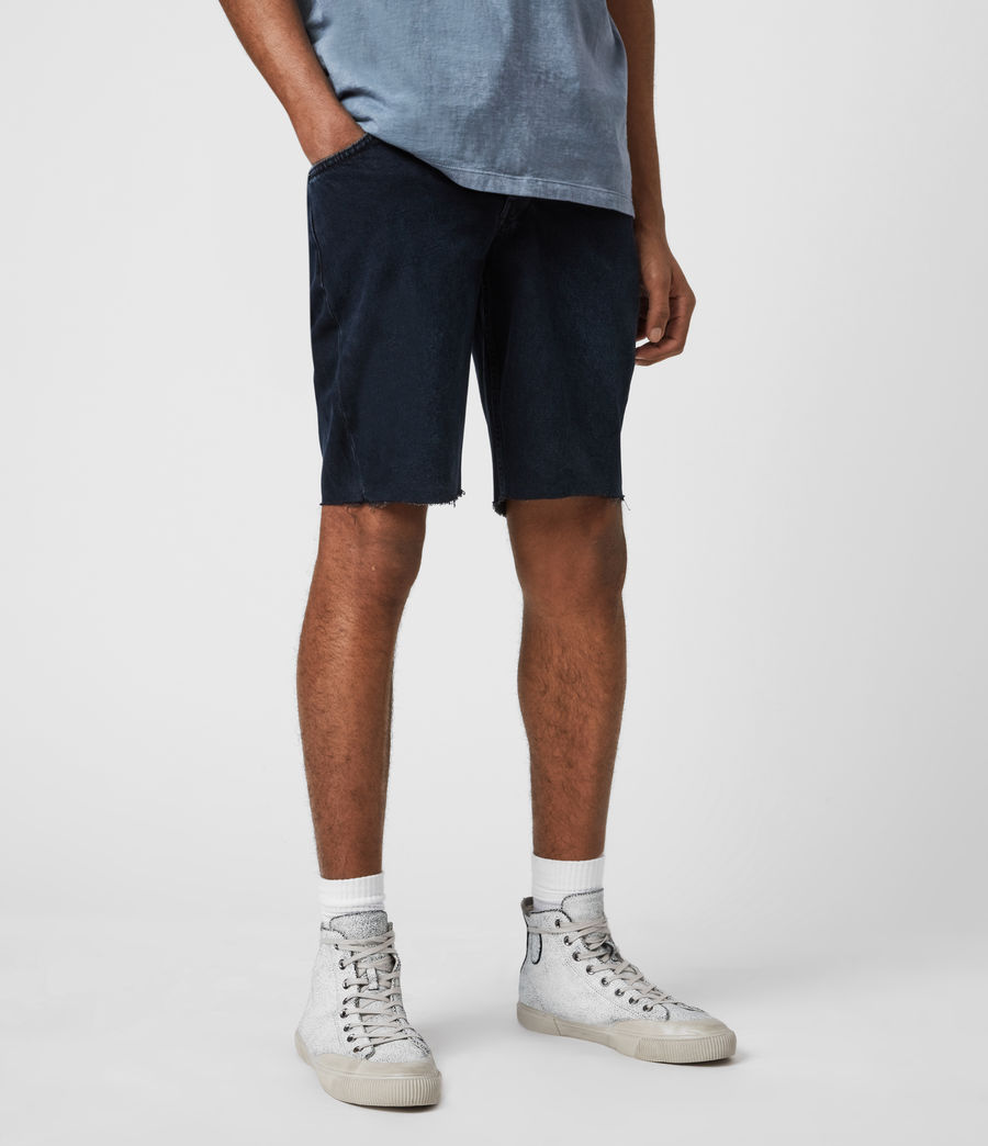 Men's Switch Denim Shorts (blue_black) - Image 1