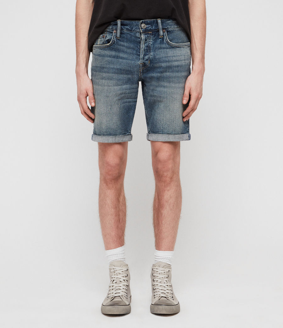 Mens Switch Denim Shorts (mid_indigo_blue) - Image 1