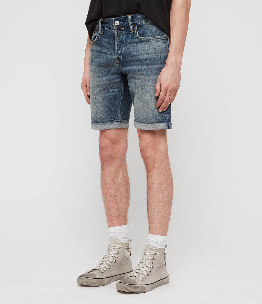 Mens Switch Denim Shorts (mid_indigo_blue) - Image 2
