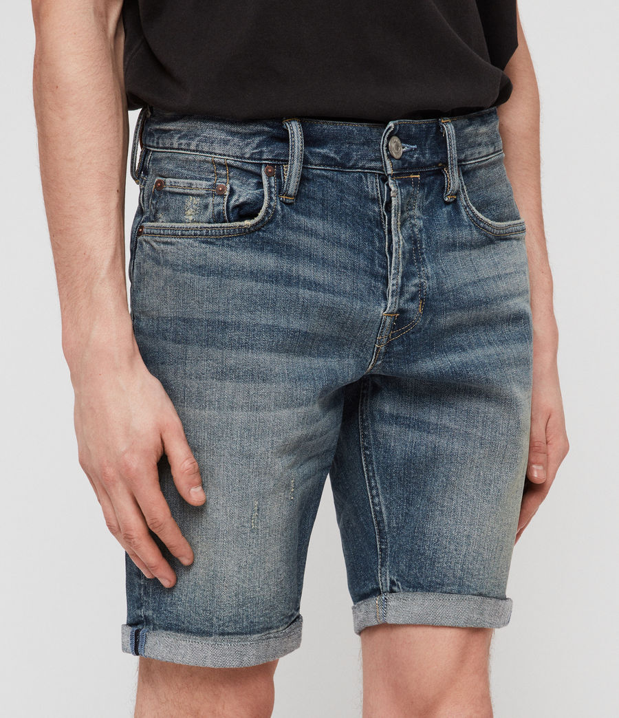 Mens Switch Denim Shorts (mid_indigo_blue) - Image 4