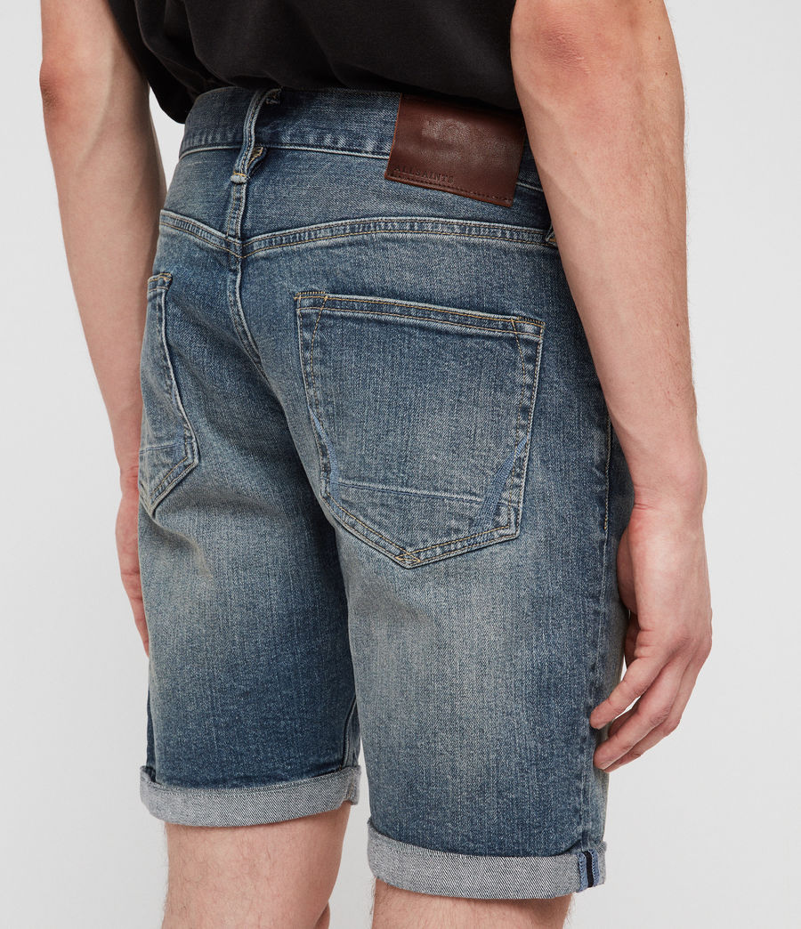 Mens Switch Denim Shorts (mid_indigo_blue) - Image 5