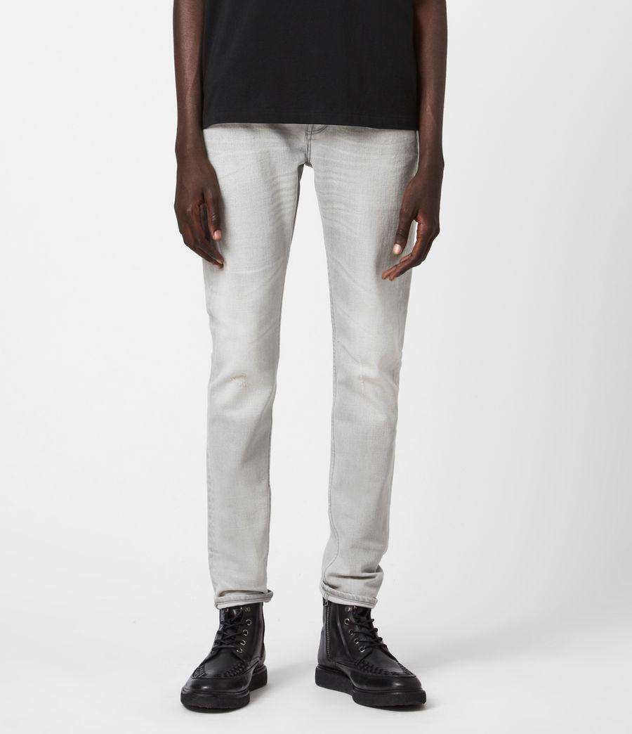 Men's Cigarette Skinny Jeans, Grey (grey) - Image 4