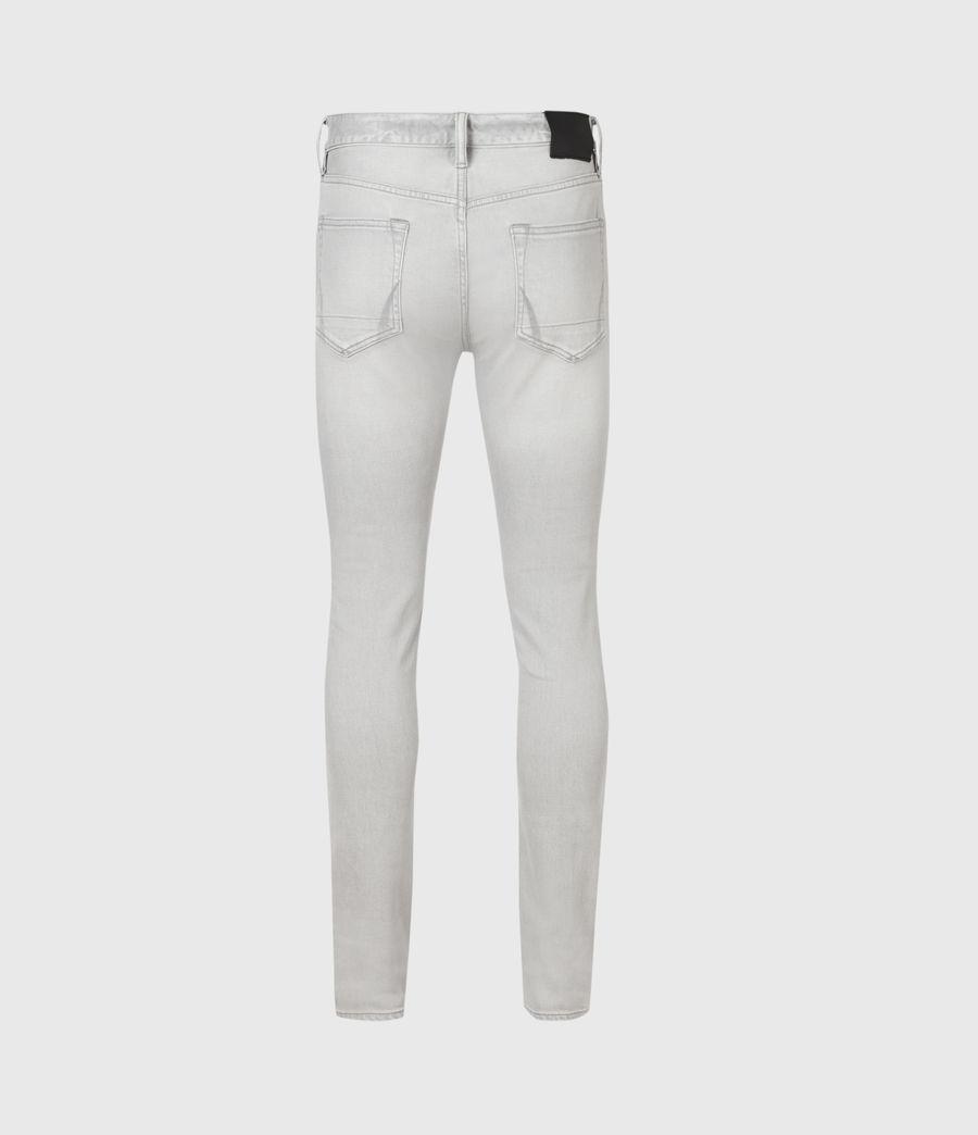 Men's Cigarette Skinny Jeans, Grey (grey) - Image 1