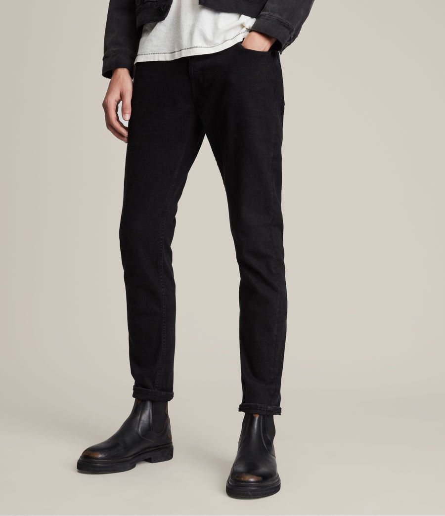 Men's Rex Straight Skinny Jeans (jet_black) - Image 1