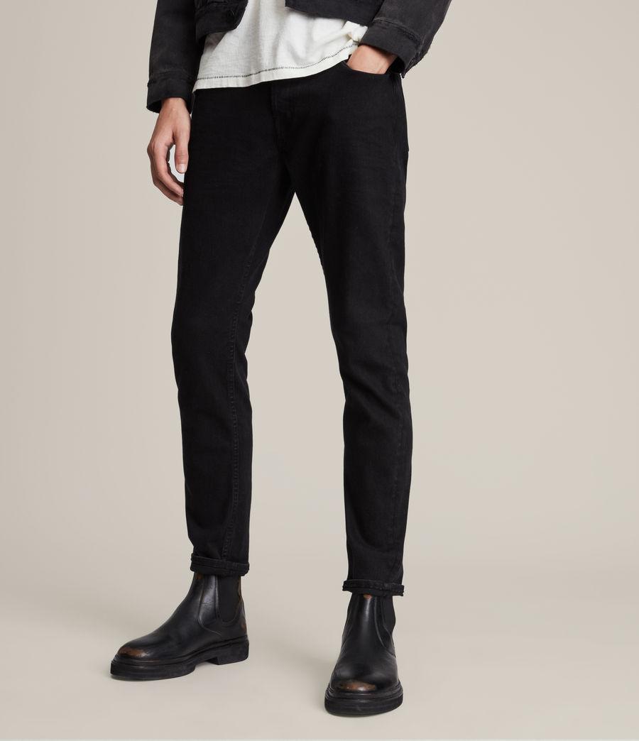 Hombres Rex Straight Skinny Jeans (jet_black) - Image 1