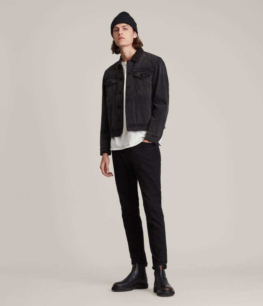 Hombre Jeans Slim Fit Rex, Negro azabache (jet_black) - Image 2