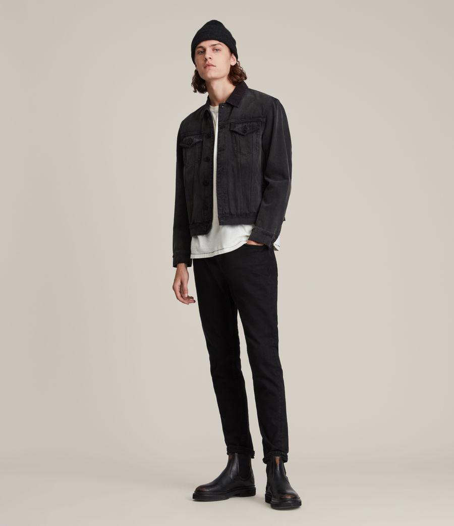 Hombres Rex Straight Skinny Jeans (jet_black) - Image 2