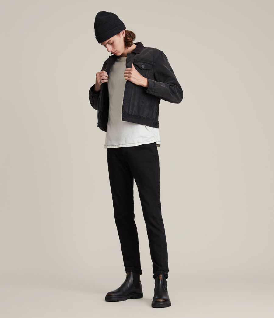 Hombres Rex Straight Skinny Jeans (jet_black) - Image 4