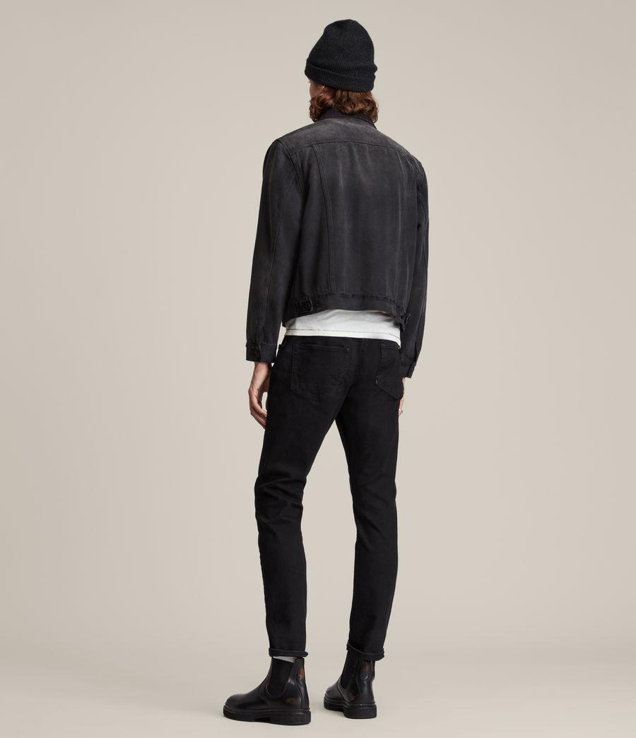 Hombres Rex Straight Skinny Jeans (jet_black) - Image 5