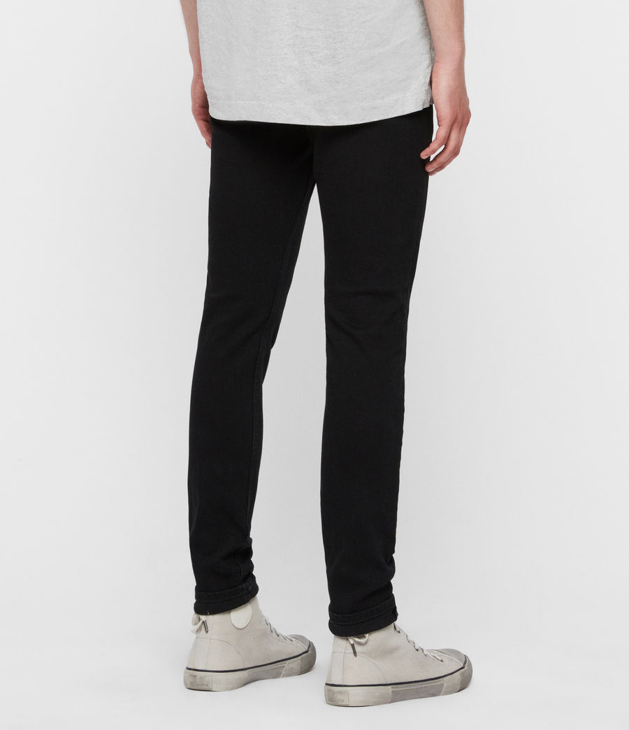 Mens Rex Slim Jeans, Jet Black (jet_black) - Image 6