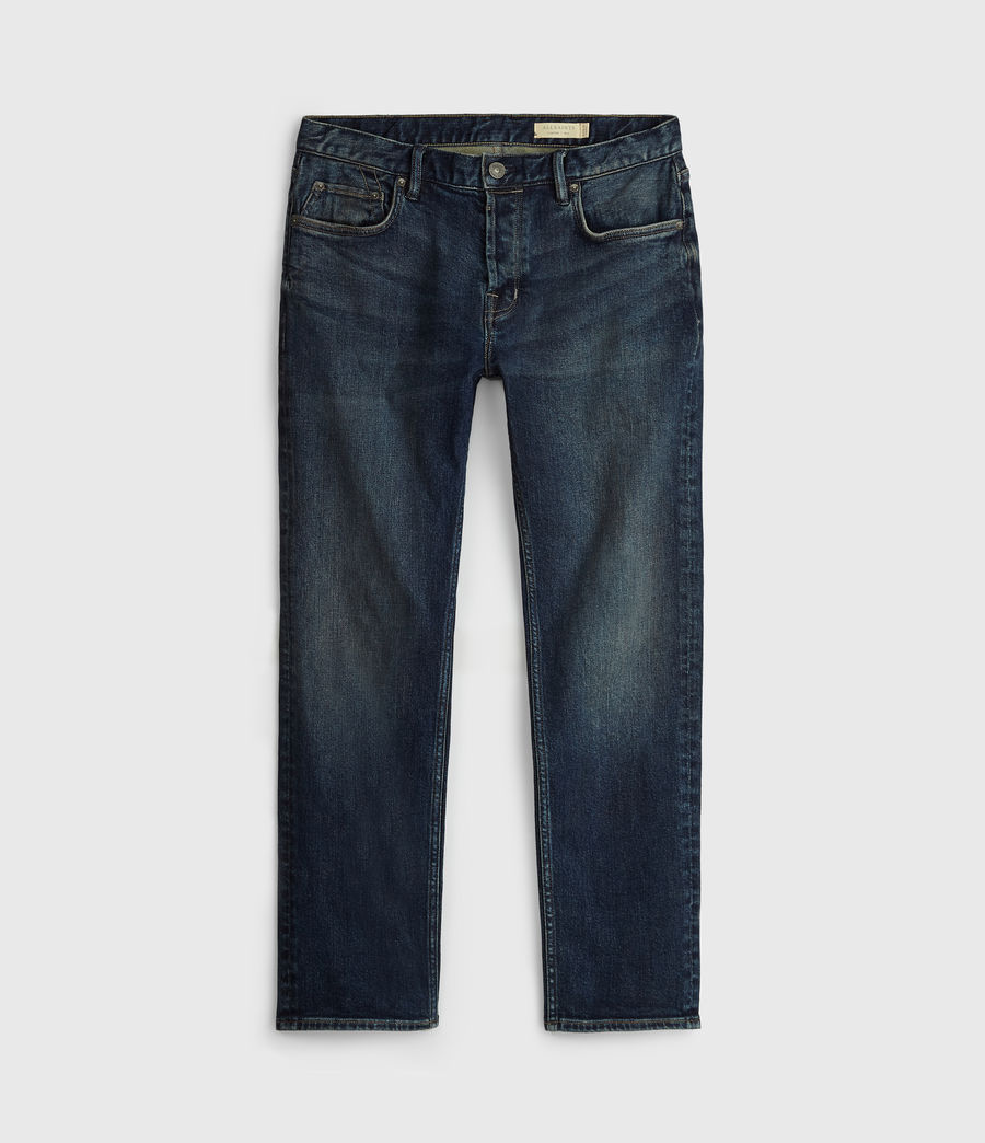 Mens Carter Straight Jeans, Washed Indigo (washed_indigo) - Image 7