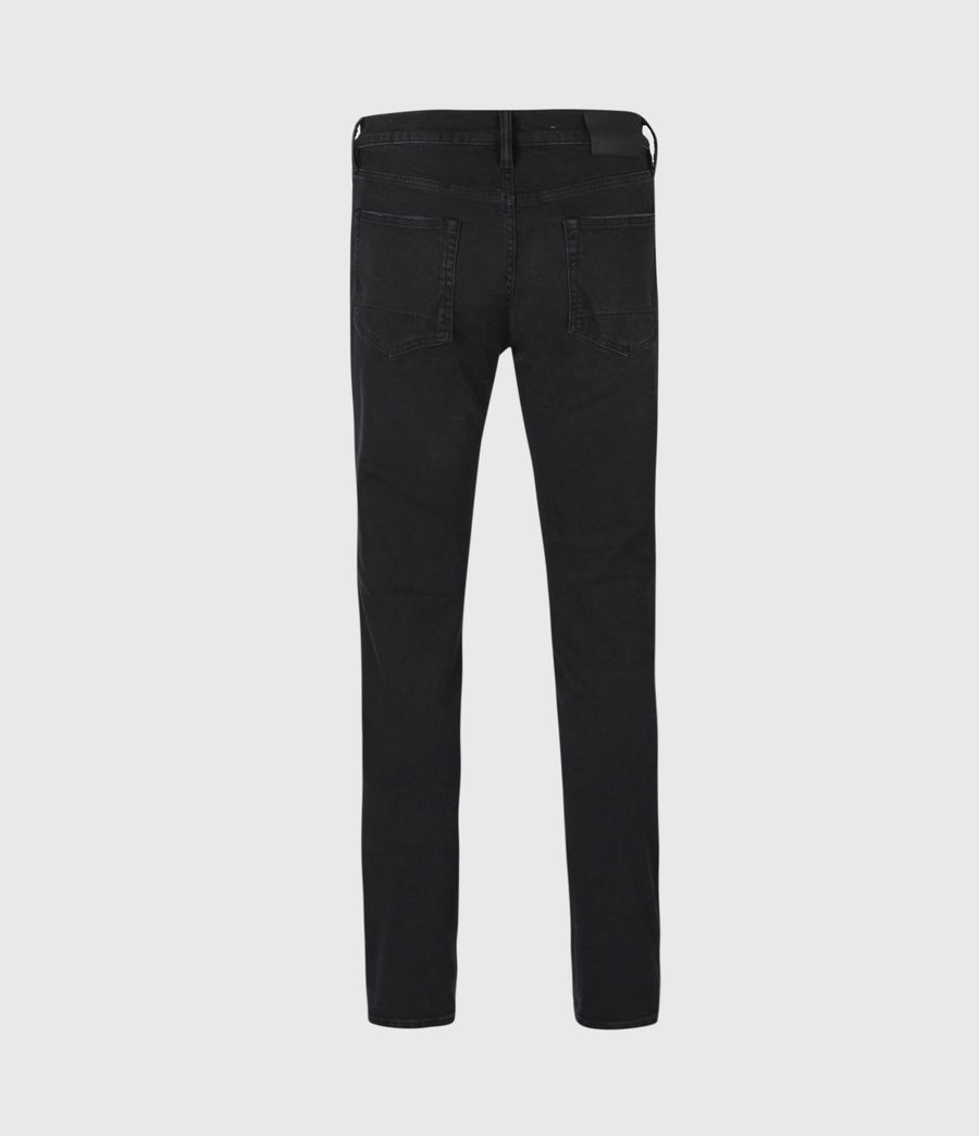 Men's Rex Damaged Slim Jeans, Washed Black (washed_black) - Image 3