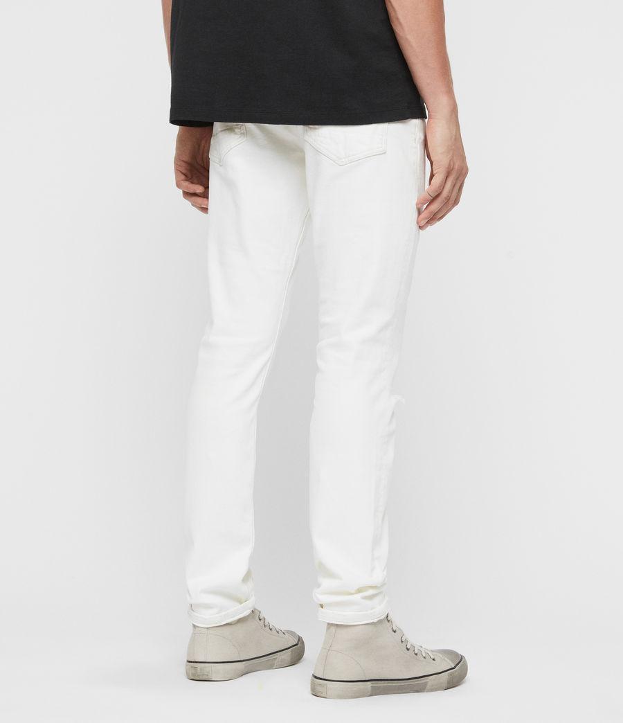 Herren Rex Schmale Jeans mit Rissen, Verblasstes Weißblau (blch_indigo_blue) - Image 5
