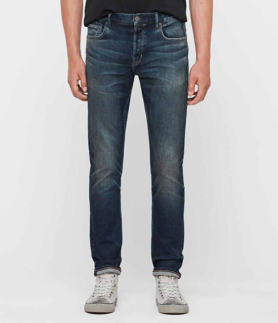 Uomo Jeans Rex Slim, Blu Indaco Medio (mid_indigo) - Image 1