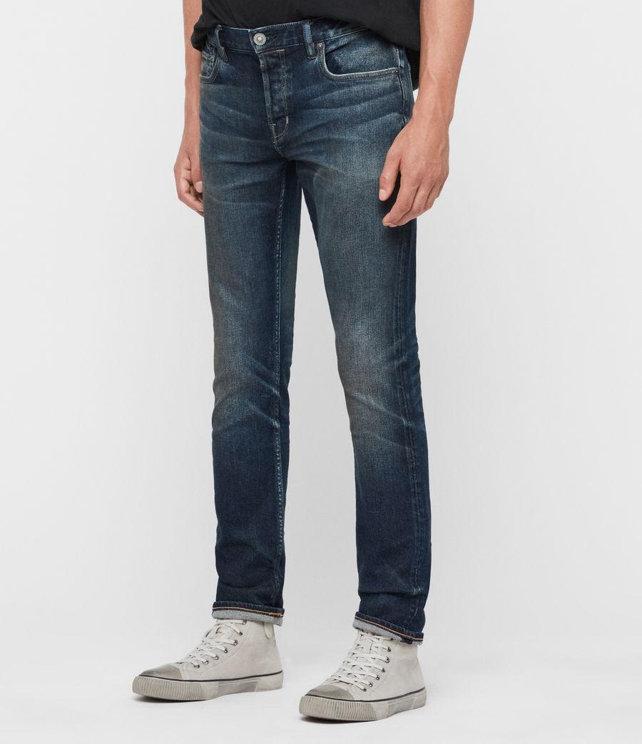 Uomo Jeans Rex Slim, Blu Indaco Medio (mid_indigo) - Image 2
