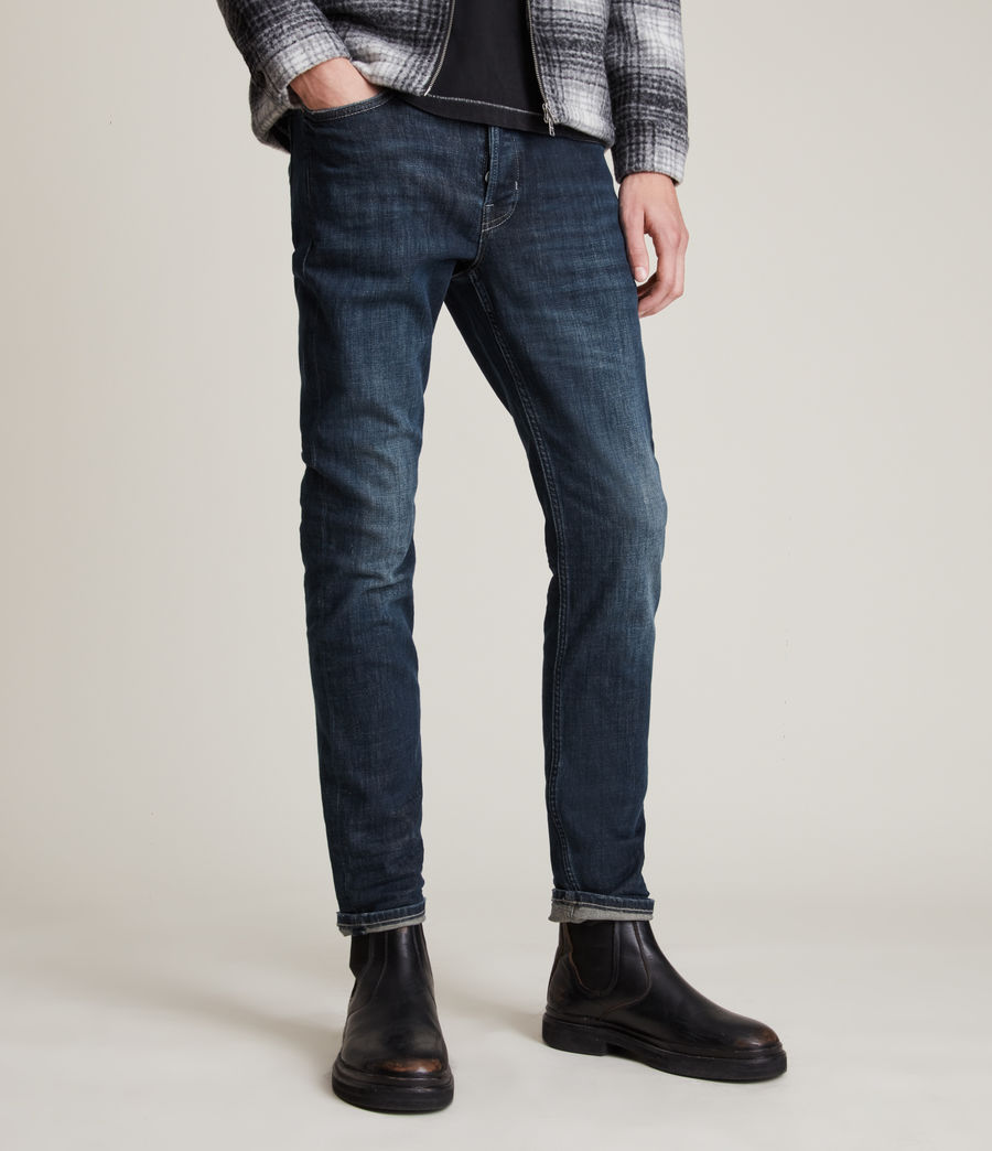 Hombres Rex Straight Skinny Jeans (indigo) - Image 1