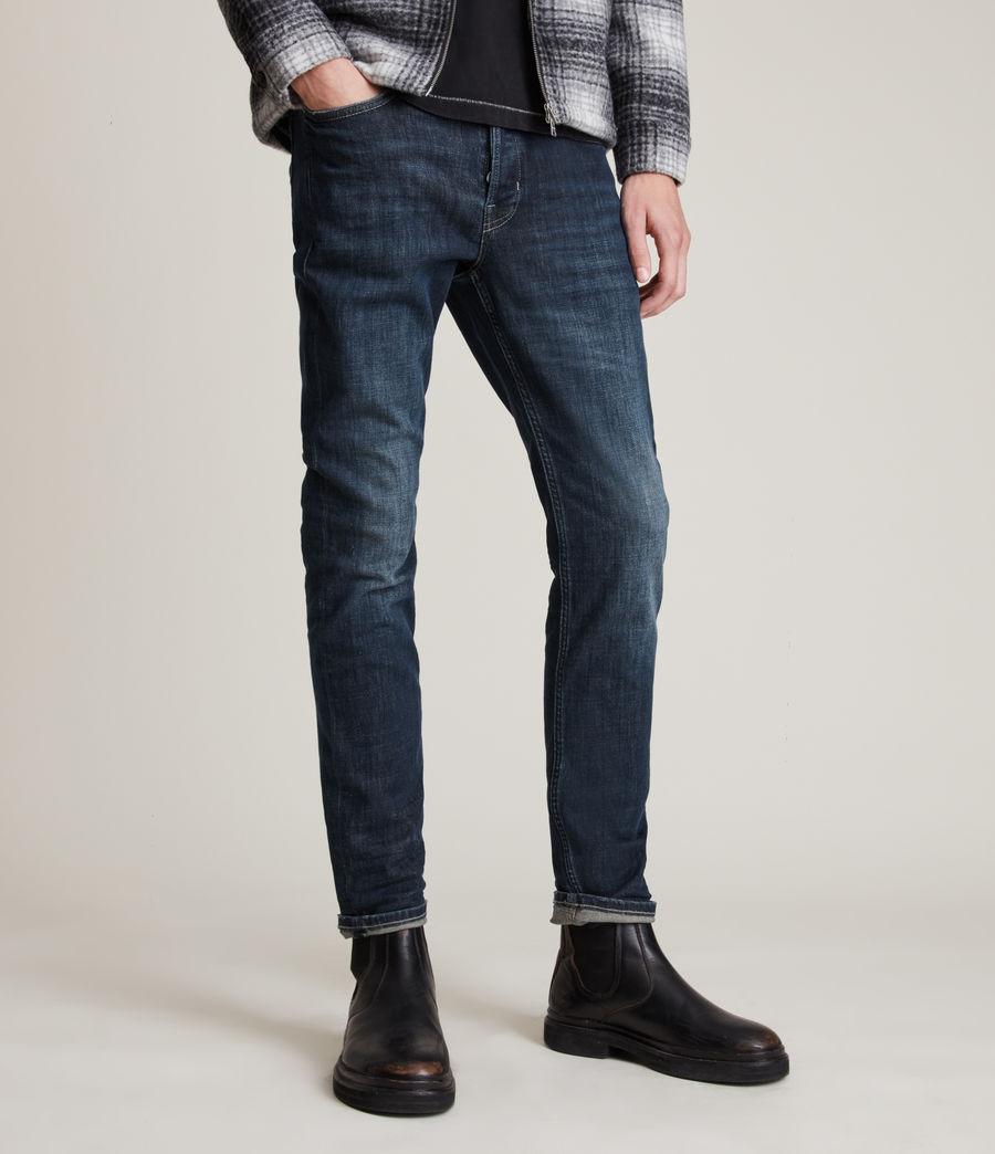 Mens Rex Slim Jeans, Indigo (indigo) - Image 1