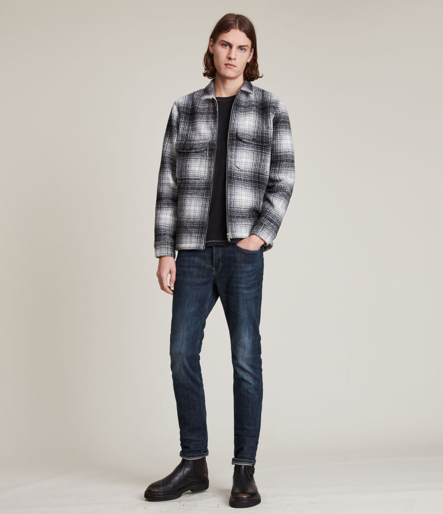 Mens Rex Slim Jeans, Indigo (indigo) - Image 2