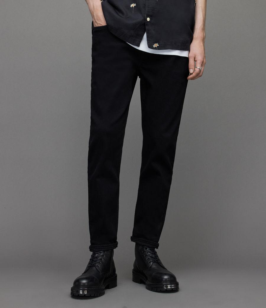 Herren Dean Cropped Slim Jeans, Jet Black (jet_black) - Image 1
