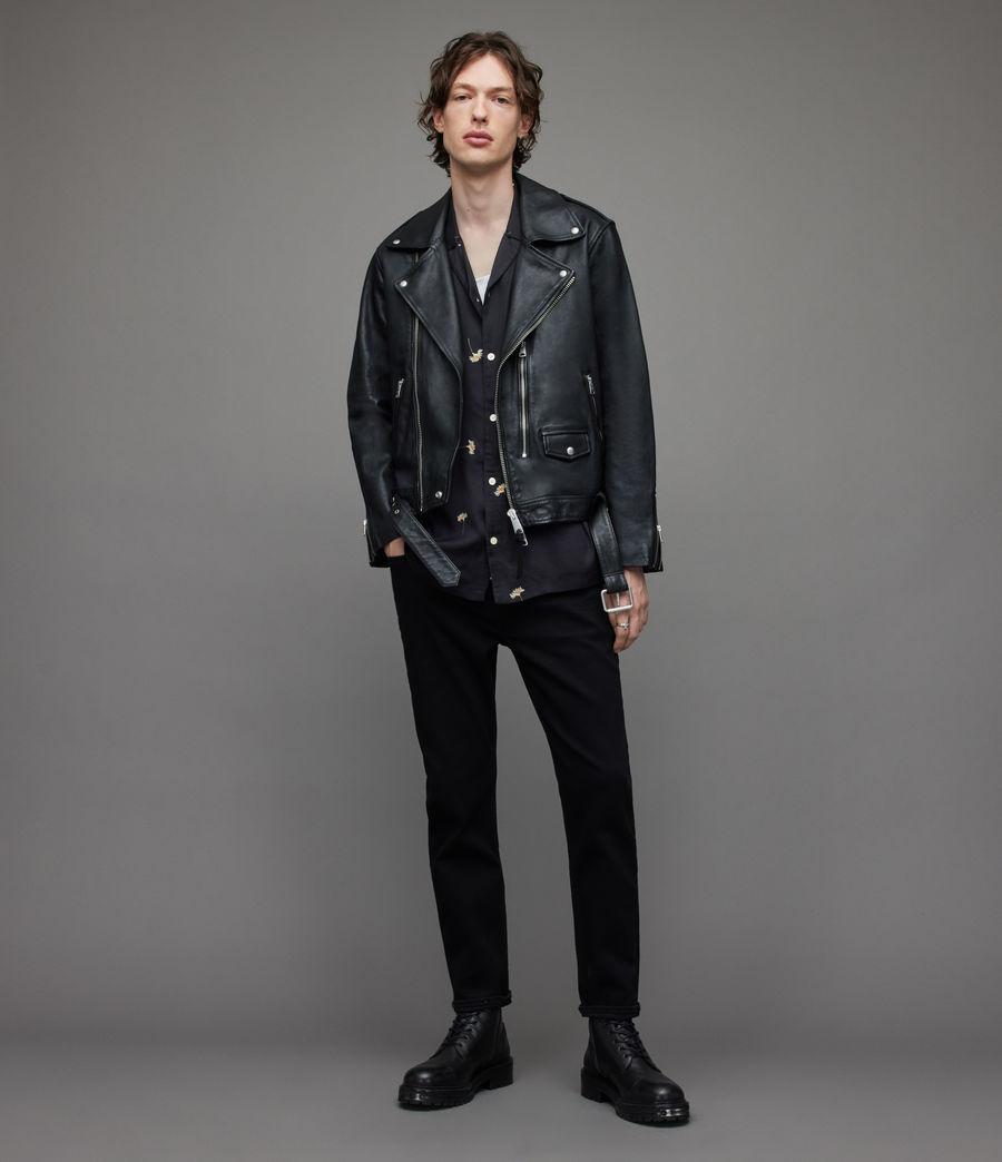 Herren Dean Cropped Slim Jeans, Jet Black (jet_black) - Image 2