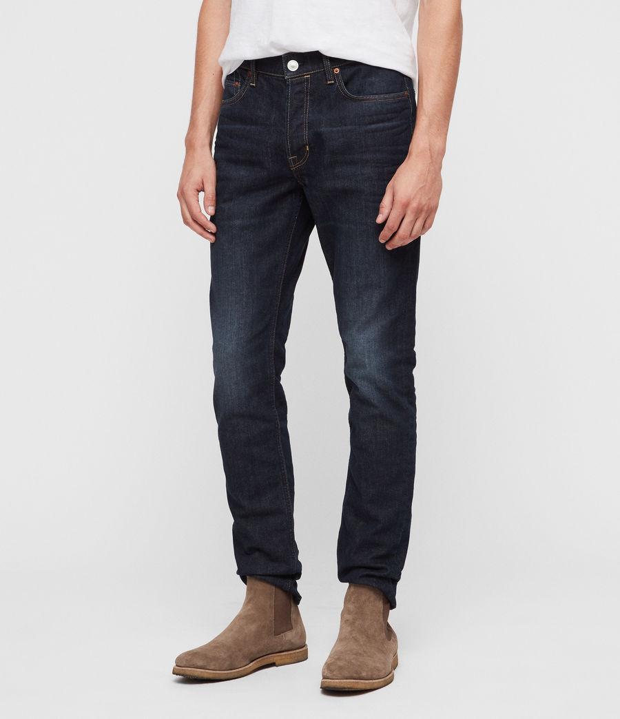 Mens Rex Straight Skinny Jeans (dark_indigo) - Image 1