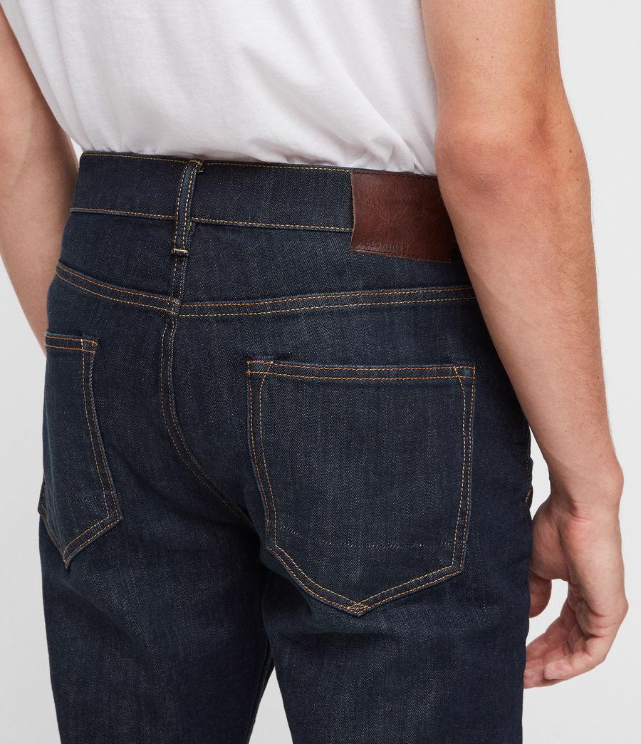 Mens Rex Straight Skinny Jeans (dark_indigo) - Image 2