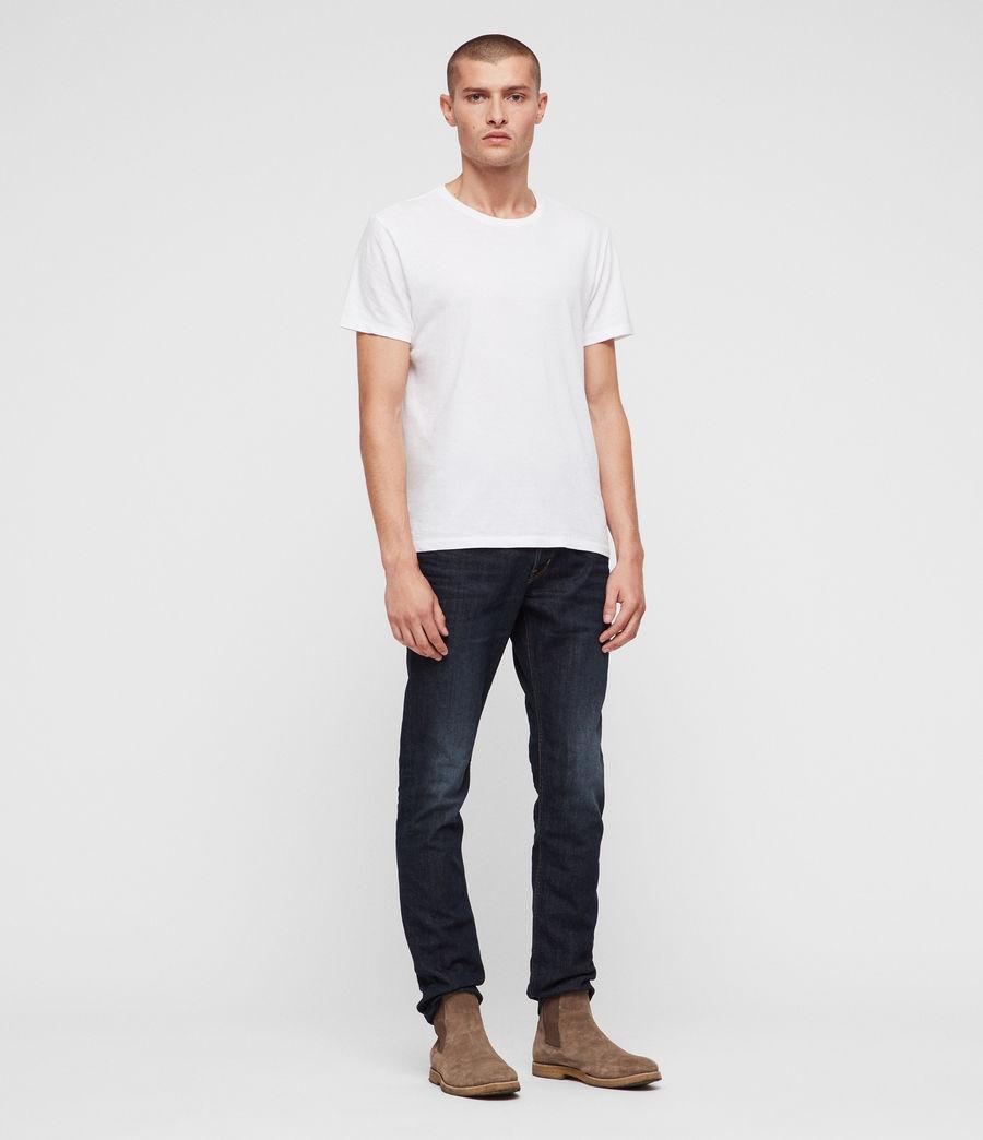 Mens Rex Straight Skinny Jeans (dark_indigo) - Image 3