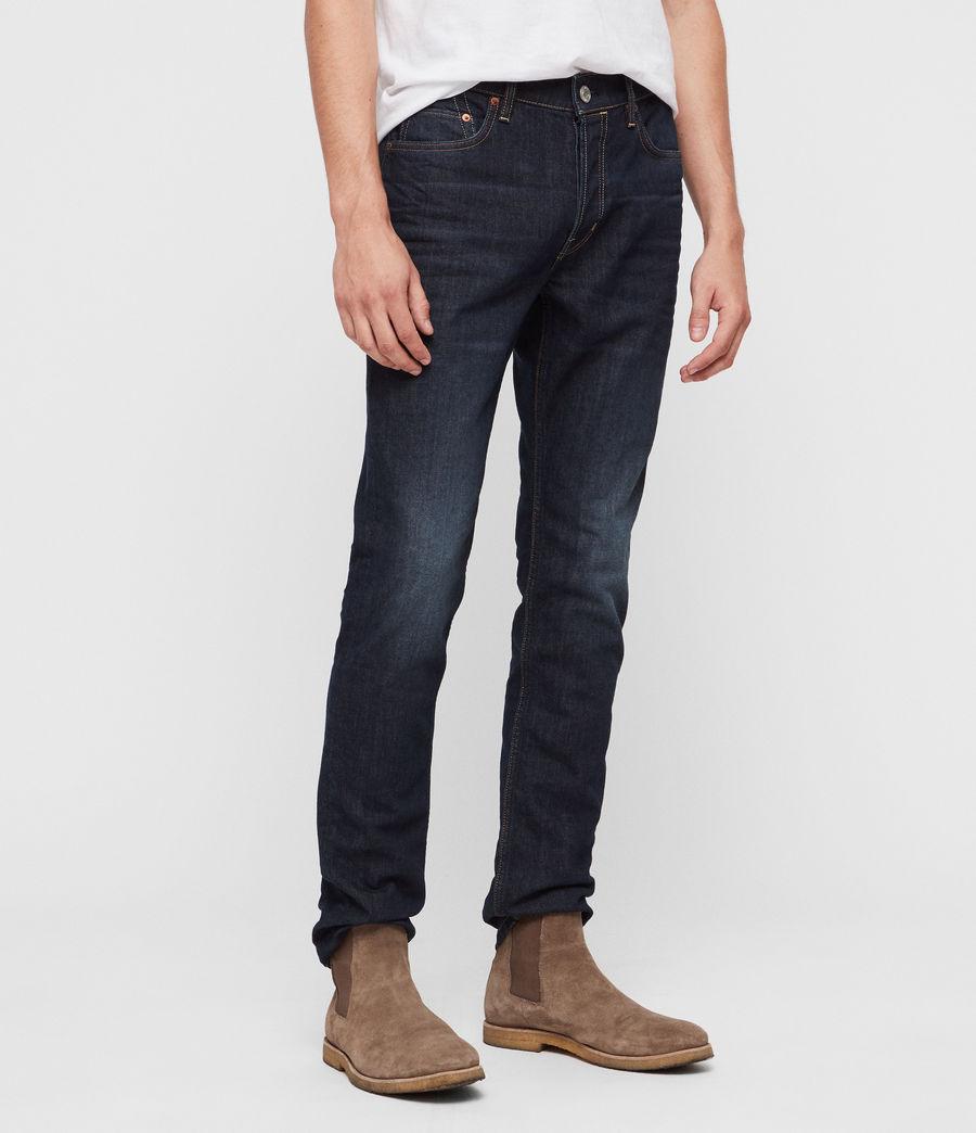 Mens Rex Straight Skinny Jeans (dark_indigo) - Image 4
