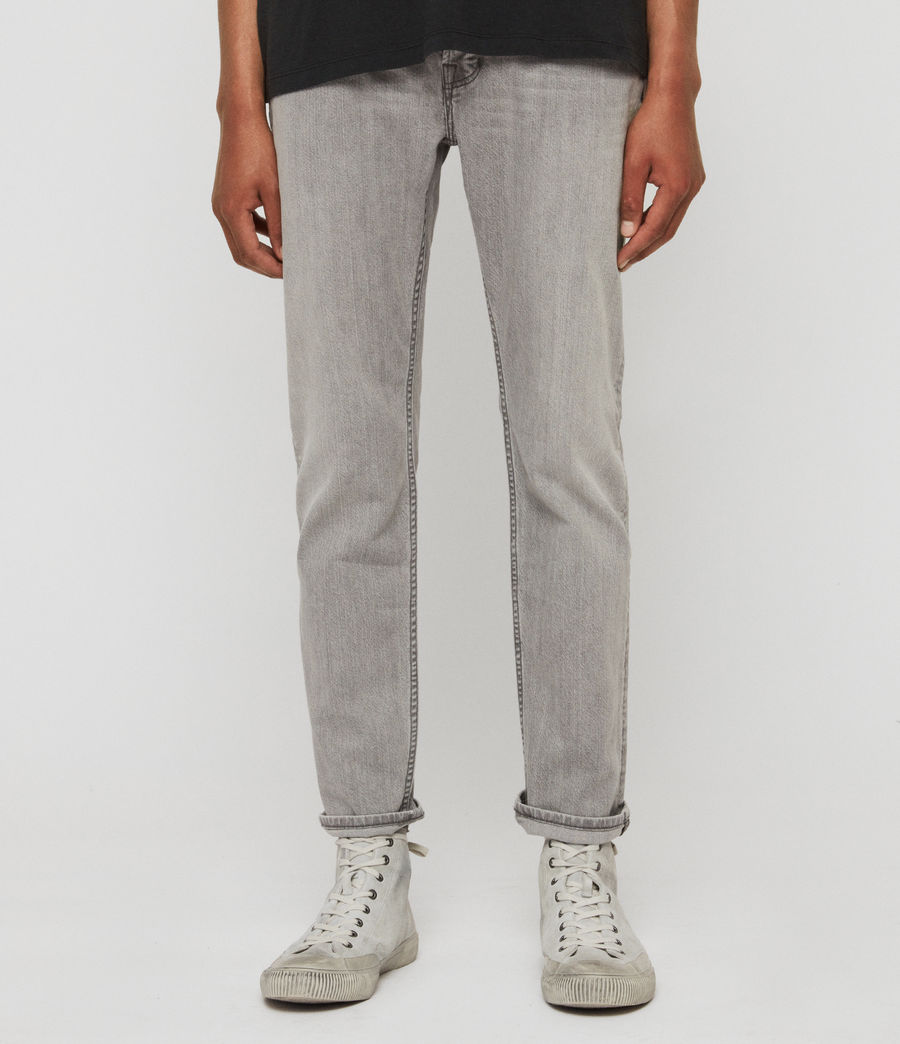 Men's Carter Straight Jeans, Mid Grey (mid_grey) - Image 1