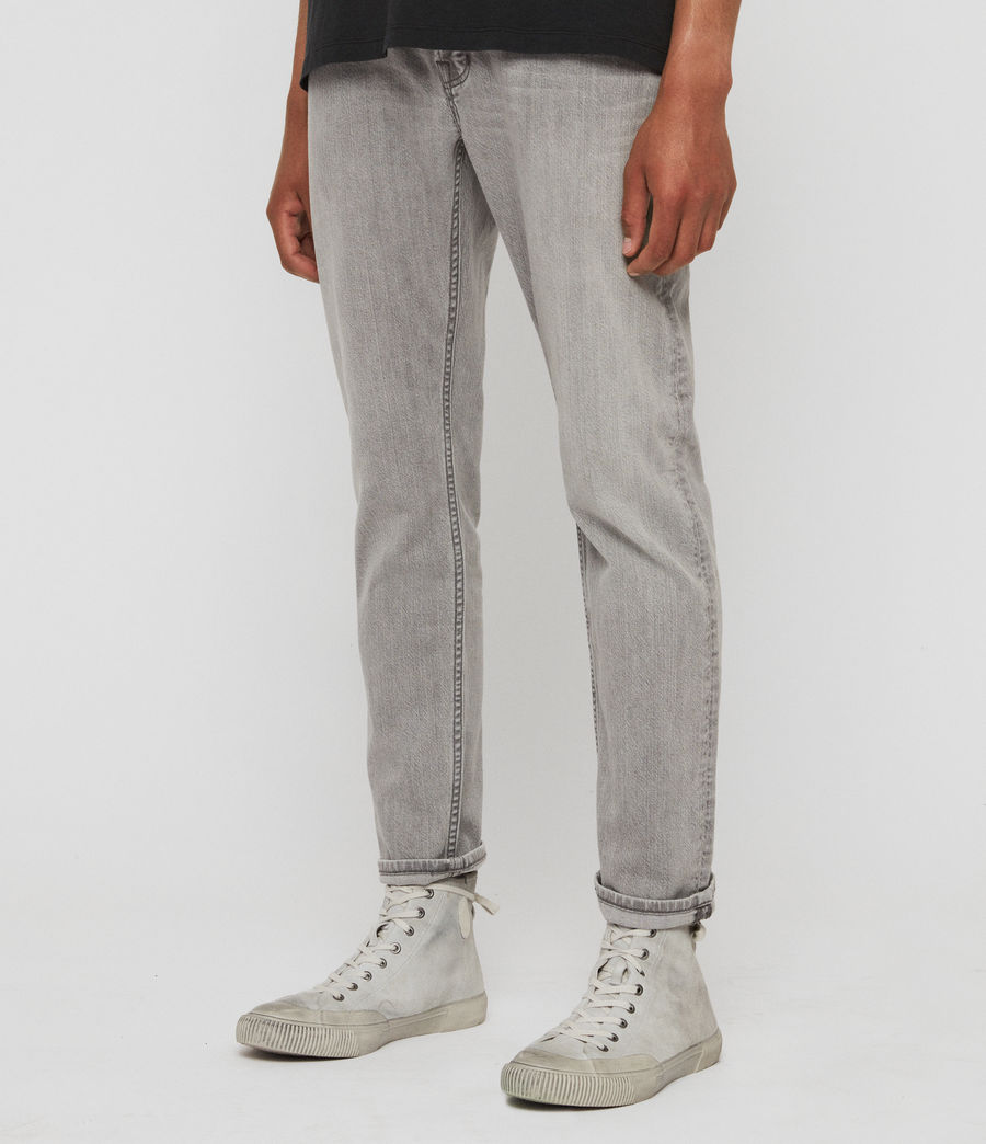 Mens Carter Straight Jeans, Mid Grey (mid_grey) - Image 4