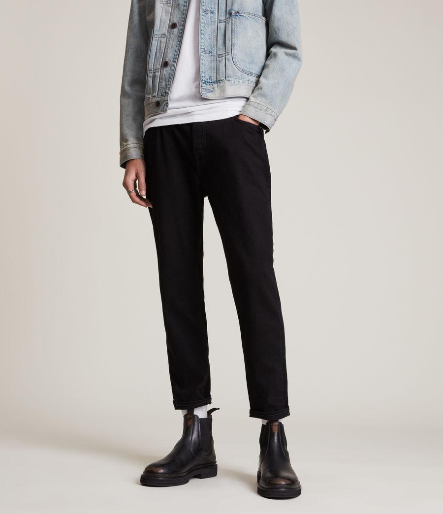 Hommes Jack Straight Jeans, Jet Black (jet_black) - Image 1