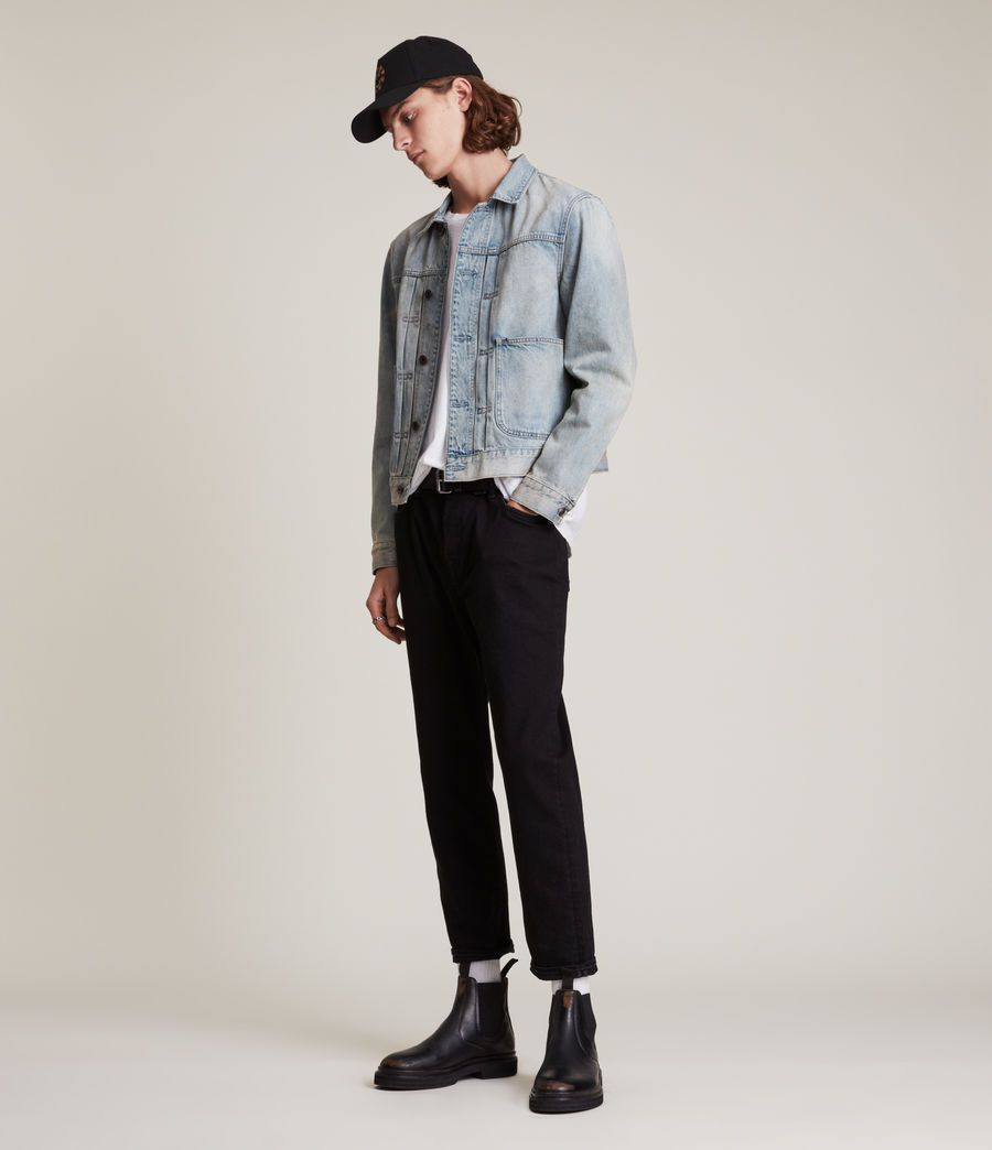 Hommes Jack Straight Jeans, Jet Black (jet_black) - Image 2
