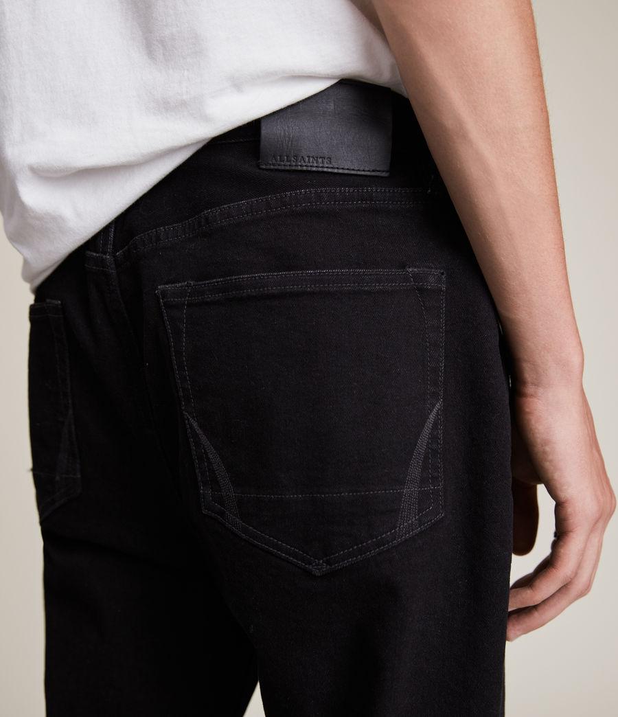 Hommes Jack Straight Jeans, Jet Black (jet_black) - Image 3