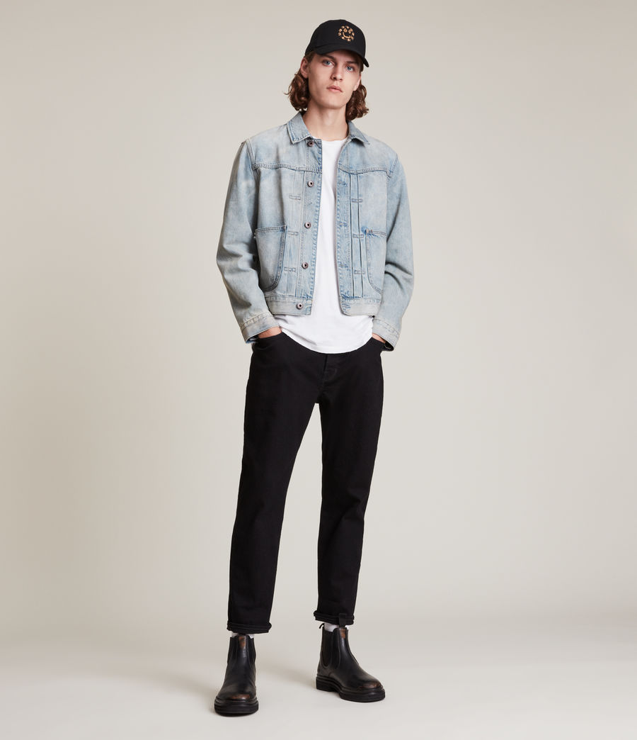 Hommes Jack Straight Jeans, Jet Black (jet_black) - Image 4