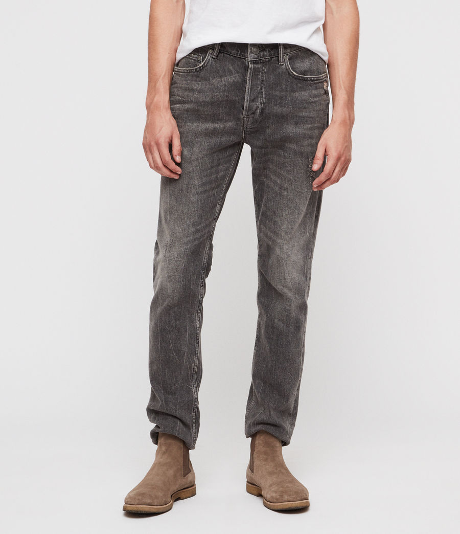 Men's Rex Straight Skinny Jeans (grey) - Image 1