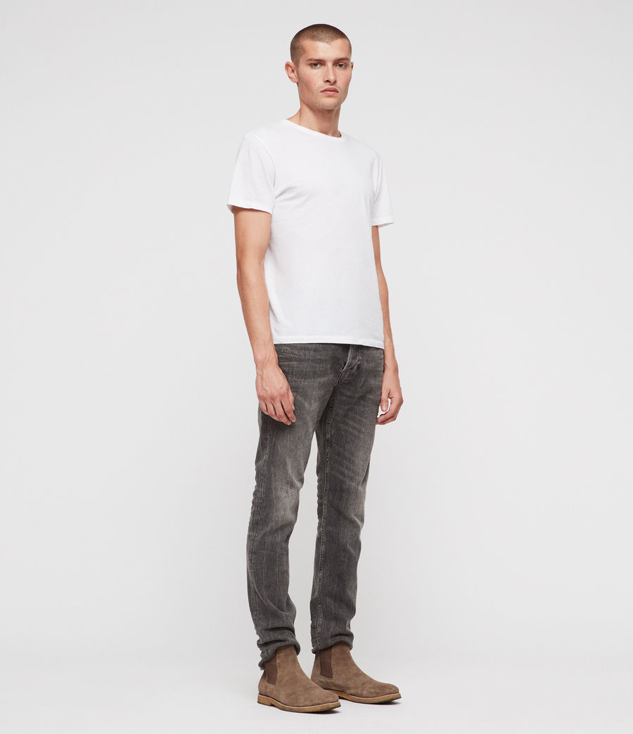 Men's Rex Straight Skinny Jeans (grey) - Image 3