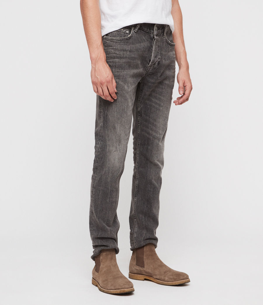 Men's Rex Straight Skinny Jeans (grey) - Image 4