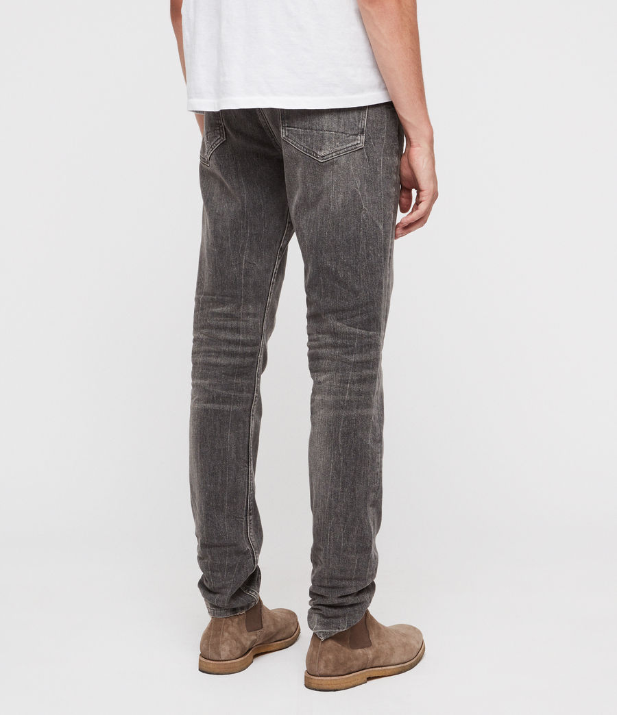 Mens Rex Straight Skinny Jeans (grey) - Image 5