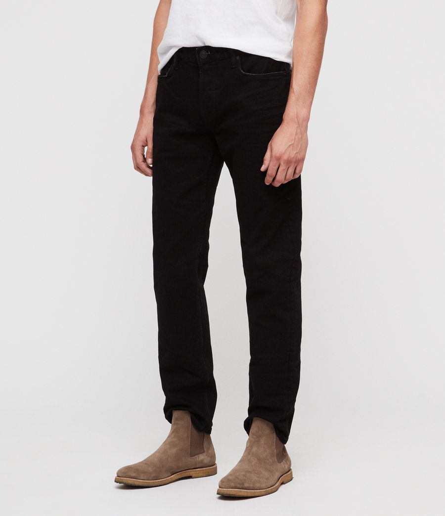 Mens Reed Straight Slim Jeans (jet_black) - Image 1