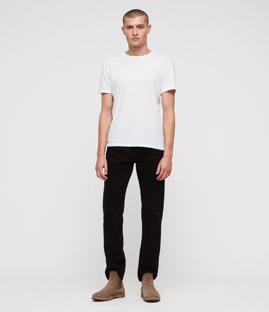 Mens Reed Straight Slim Jeans (jet_black) - Image 3