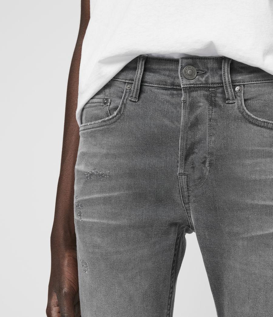 Hombre Cigarette Damaged Skinny Jeans, Grey (grey) - Image 2