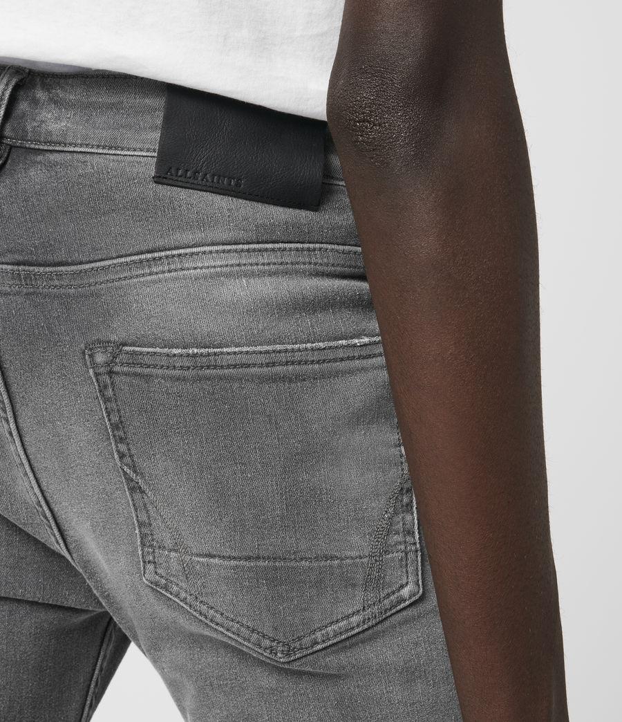 Hombre Cigarette Damaged Skinny Jeans, Grey (grey) - Image 4