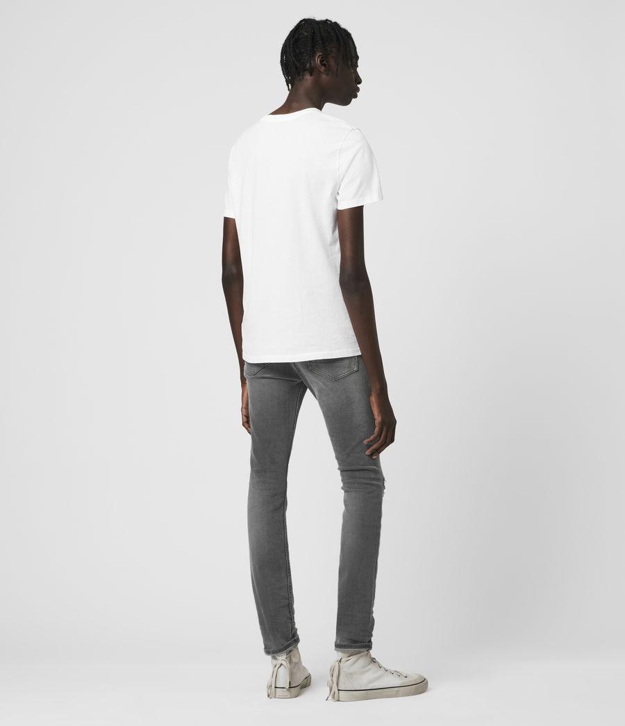 Hombre Cigarette Damaged Skinny Jeans, Grey (grey) - Image 5