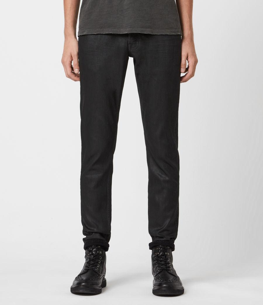 Mens Rex Slim Jeans, Black (black) - Image 1