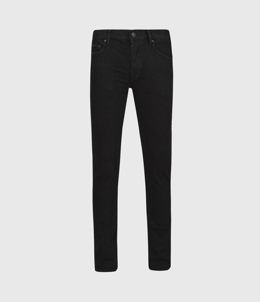 Mens Rex Slim Jeans, Black (black) - Image 2