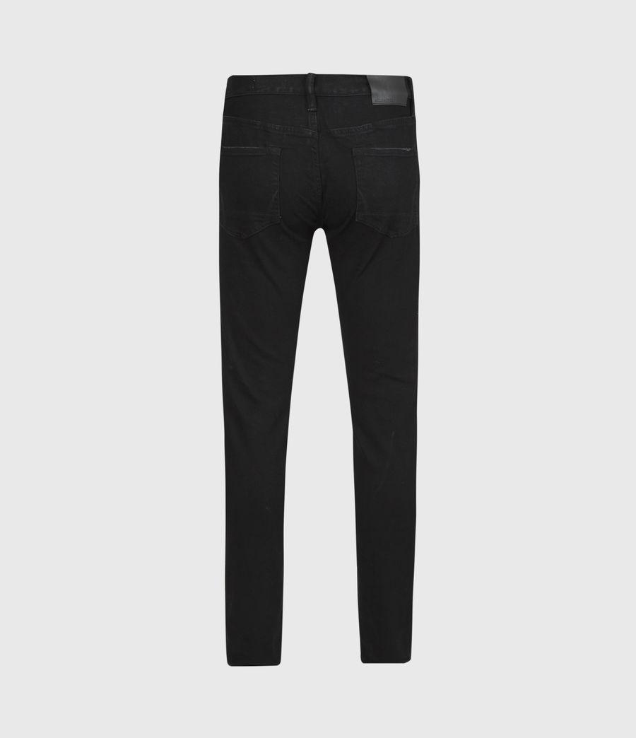 Mens Rex Slim Jeans, Black (black) - Image 3