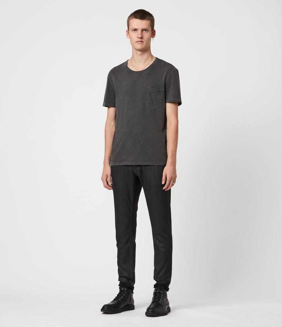 Mens Rex Slim Jeans, Black (black) - Image 4